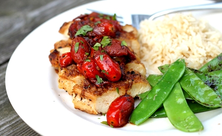 Chicken Breasts with Tomato-Herb Pan Sauce | Tide and Thyme