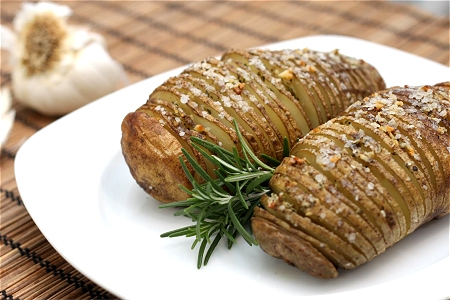 Rosemary-Garlic Hasselback Potatoes Tide and Thyme