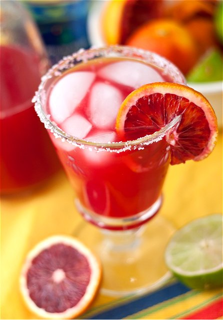 Blood Orange Margaritas | Tide and Thyme