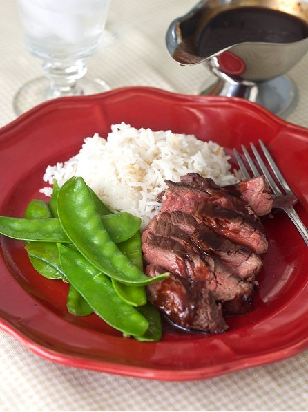 Bourbon-Marinated Flank Steak Recipe — Dishmaps