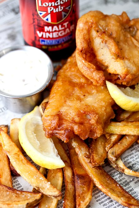 Fish and chips tide thyme for Fish and chips recipes