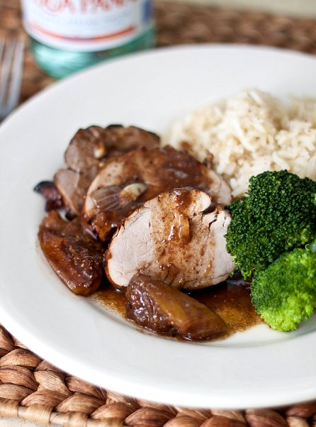 Pork Tenderloin with Madiera-Fig Gravy