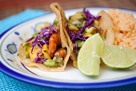 with mango salsa avocado mango salsa chipotle shrimp taco with ...
