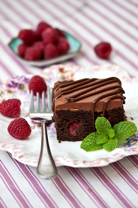 Raspberry Truffle Brownies Recipes — Dishmaps