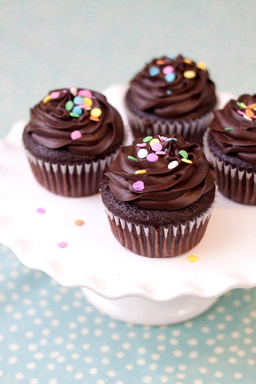 Skinny Chocolate Cupcakes