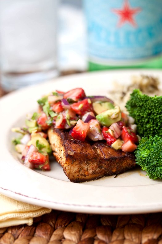Mahi-Mahi with Strawberry Avocado Salsa