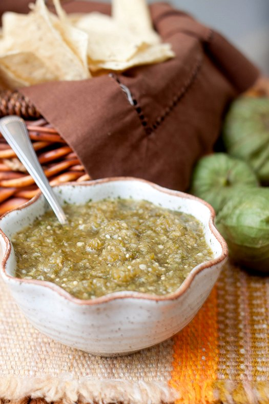 Roasted Tomatillo Salsa (Salsa Verde)