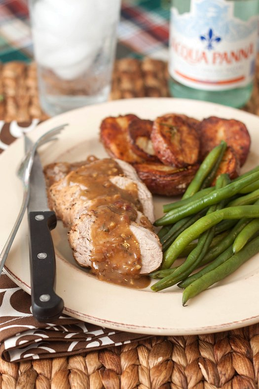 Pork Tenderloin with Honey-Mustard Sauce