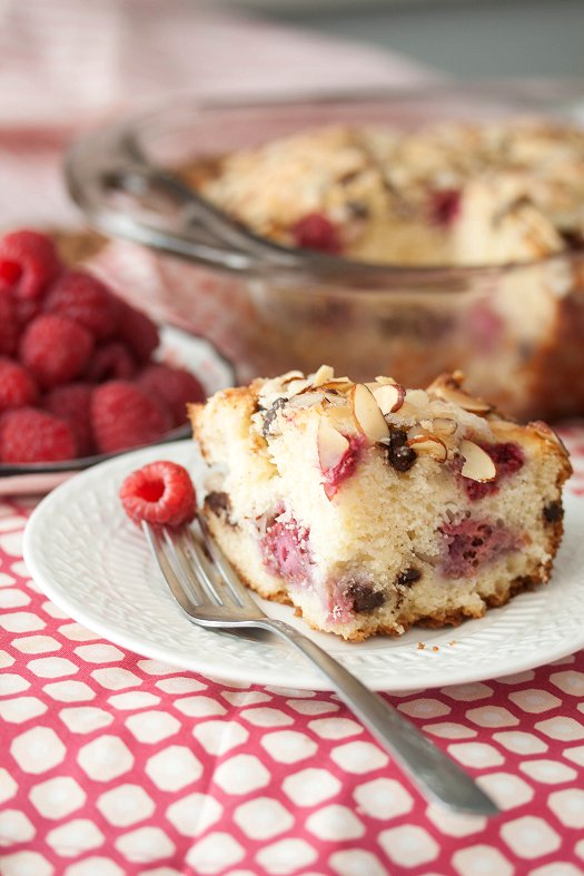 Raspberry Dark Chocolate Coffee Cake