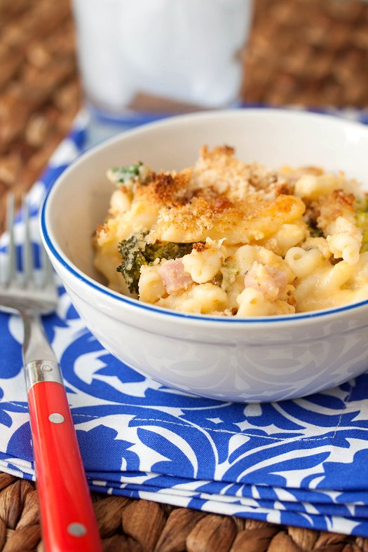 Cheesy Ham & Broccoli Pasta Bake