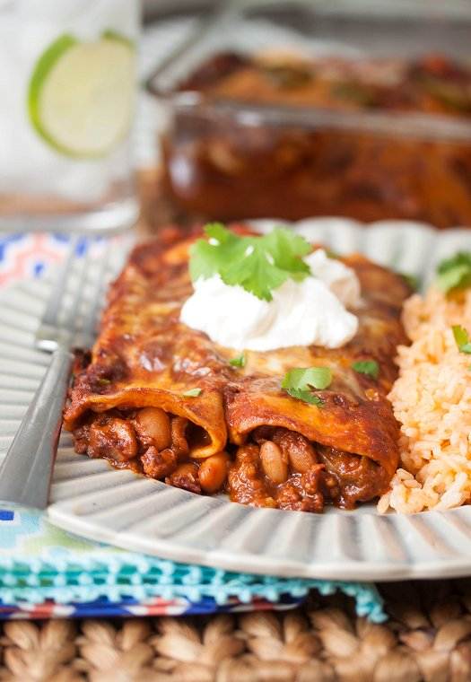 Bean & Cheese Enchiladas