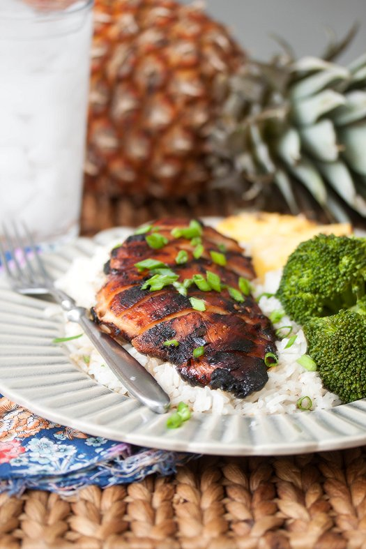 Hawaiian Chicken & Coconut Rice | Tide and Thyme