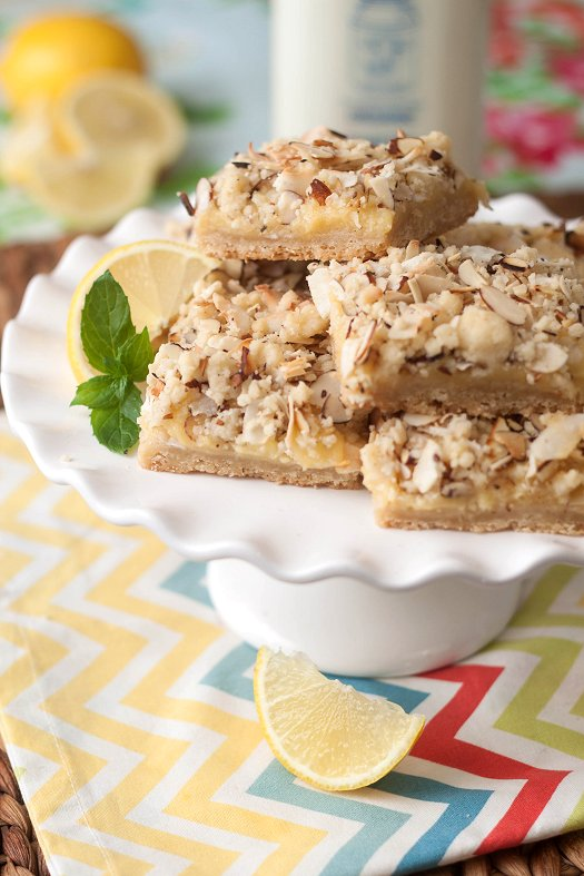 Tropical Lemon Curd Bars