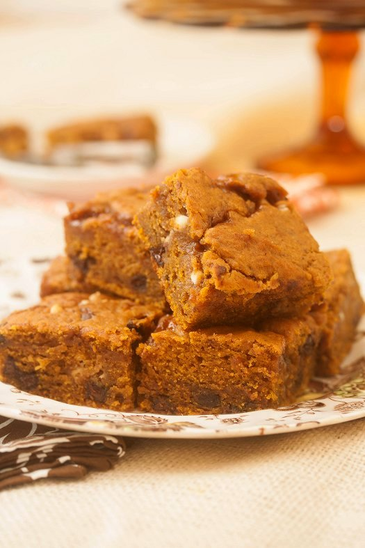 Caramel Pumpkin Blondies