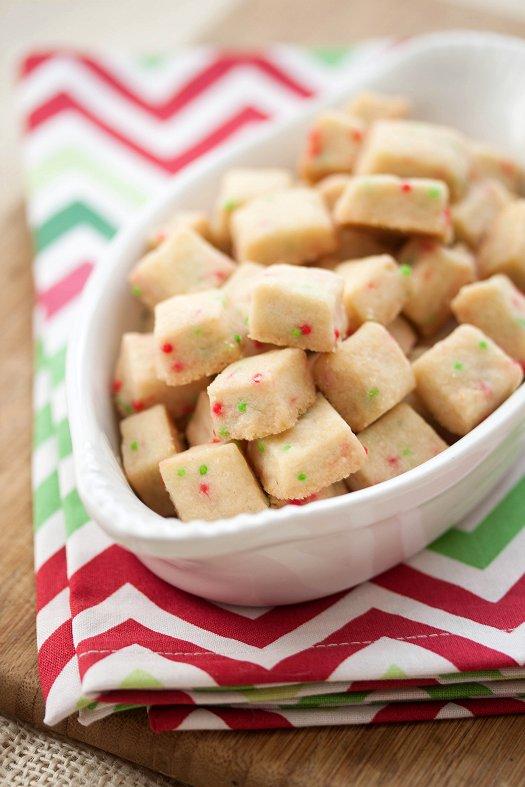 Festive Shortbread Bites