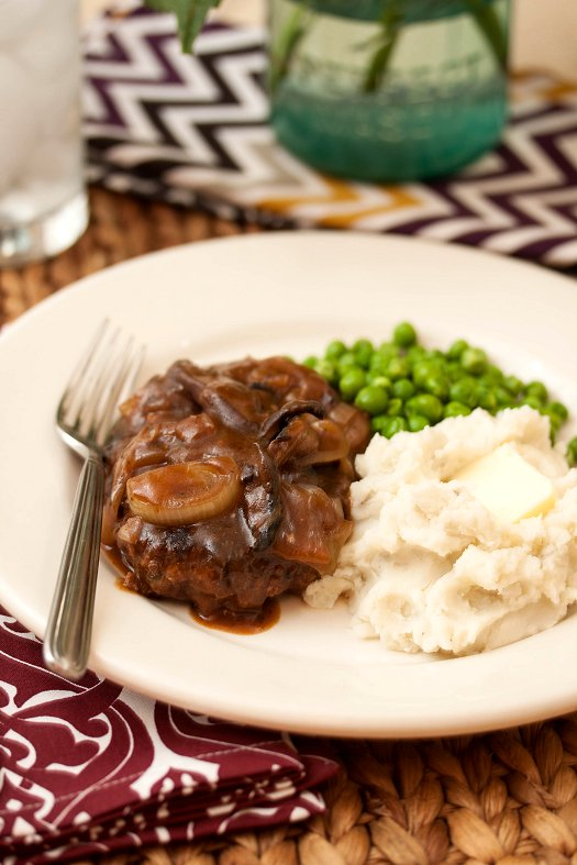 Salisbury Steak w/ Mushroom-Onion Gravy
